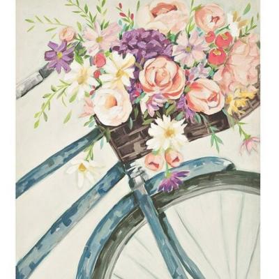 Élményfestés - Bicikli virágokkal